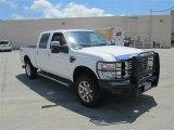 2010 White Platinum Metallic Tri-Coat Ford F350 Super Duty Lariat Crew Cab 4x4 #82098224
