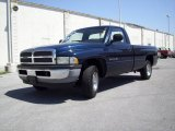 2001 Patriot Blue Pearl Dodge Ram 1500 Regular Cab #8184730