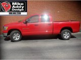 2006 Flame Red Dodge Ram 1500 SLT Quad Cab #8196410