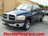 2006 Patriot Blue Pearl Dodge Ram 1500 ST Quad Cab #8189088