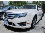 2011 White Platinum Tri-Coat Ford Fusion Sport AWD #82098661