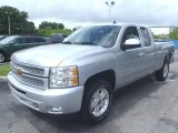 2013 Silver Ice Metallic Chevrolet Silverado 1500 LT Extended Cab 4x4 #82161638