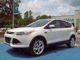 2013 White Platinum Metallic Tri-Coat Ford Escape Titanium 2.0L EcoBoost #82161006