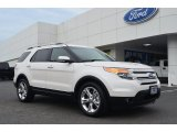 2013 White Platinum Tri-Coat Ford Explorer Limited EcoBoost #82161095