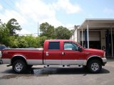 2002 Toreador Red Metallic Ford F250 Super Duty Lariat Crew Cab 4x4 #82161258