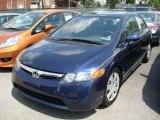 2007 Royal Blue Pearl Honda Civic LX Sedan #8188403