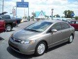 2007 Galaxy Gray Metallic Honda Civic Hybrid Sedan #8190991