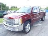 2013 Deep Ruby Metallic Chevrolet Silverado 1500 LT Extended Cab #82216062
