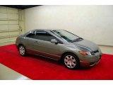 2007 Galaxy Gray Metallic Honda Civic LX Coupe #8192000
