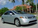 2007 Alabaster Silver Metallic Honda Civic LX Sedan #8189142