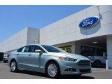2013 Ice Storm Metallic Ford Fusion Hybrid SE #82215606