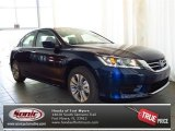 2013 Obsidian Blue Pearl Honda Accord LX Sedan #82215278