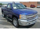 2013 Blue Topaz Metallic Chevrolet Silverado 1500 LS Regular Cab 4x4 #82215928