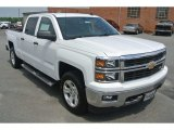 2014 Summit White Chevrolet Silverado 1500 LT Z71 Crew Cab 4x4 #82215925