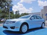 2010 Light Ice Blue Metallic Ford Fusion Hybrid #82215429