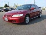 2002 Firepepper Red Pearl Honda Accord SE Sedan #82269956