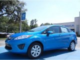 2013 Blue Candy Ford Fiesta SE Sedan #82269369