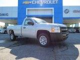 2013 Silver Ice Metallic Chevrolet Silverado 1500 Work Truck Regular Cab #82269566