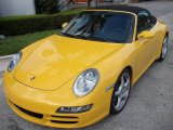 Speed Yellow Porsche 911 in 2007