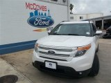2013 White Platinum Tri-Coat Ford Explorer Limited #82352642