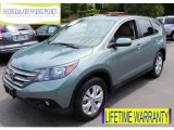 2012 Opal Sage Metallic Honda CR-V EX 4WD #82360173