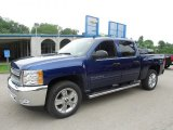 2013 Blue Topaz Metallic Chevrolet Silverado 1500 LT Crew Cab 4x4 #82389616