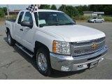 2013 Summit White Chevrolet Silverado 1500 LT Extended Cab 4x4 #82446944