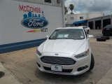 2013 White Platinum Metallic Tri-coat Ford Fusion Hybrid SE #82446478