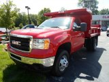 2013 Fire Red GMC Sierra 3500HD Regular Cab 4x4 Dump Truck #82446895