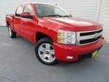 2007 Victory Red Chevrolet Silverado 1500 LTZ Crew Cab 4x4 #82446677