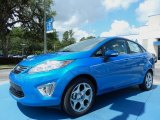 2013 Blue Candy Ford Fiesta Titanium Sedan #82500465