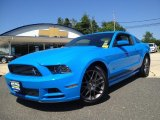 2013 Grabber Blue Ford Mustang V6 Premium Coupe #82500547