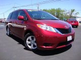 2012 Salsa Red Pearl Toyota Sienna LE #82554189
