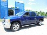 2013 Blue Topaz Metallic Chevrolet Silverado 1500 LT Crew Cab 4x4 #82553831
