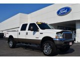 2004 Oxford White Ford F250 Super Duty Lariat Crew Cab 4x4 #82553929
