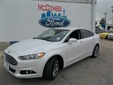 2013 White Platinum Metallic Tri-coat Ford Fusion Titanium #82553753