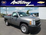 2013 Graystone Metallic Chevrolet Silverado 1500 Work Truck Regular Cab 4x4 #82554443