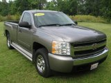 2008 Graystone Metallic Chevrolet Silverado 1500 LT Regular Cab 4x4 #82614160