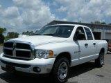 2005 Bright White Dodge Ram 1500 SLT Quad Cab #8247903