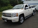 2013 White Diamond Tricoat Chevrolet Silverado 1500 LTZ Crew Cab 4x4 #82638424