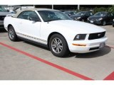 2005 Performance White Ford Mustang V6 Premium Convertible #82638725