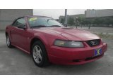 2002 Laser Red Metallic Ford Mustang V6 Convertible #82638773