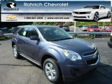 2013 Atlantis Blue Metallic Chevrolet Equinox LS AWD #82638711