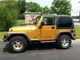 2003 Jeep Wrangler Solar Yellow