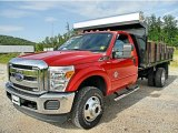 2012 Vermillion Red Ford F350 Super Duty XLT Regular Cab 4x4 Dump Truck #82638651