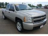 2008 Silver Birch Metallic Chevrolet Silverado 1500 LT Crew Cab 4x4 #82638647