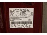 2005 F150 Color Code for Dark Toreador Red Metallic - Color Code: JL