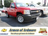 2013 Victory Red Chevrolet Silverado 1500 Work Truck Regular Cab #82638502
