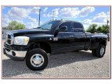 2007 Brilliant Black Crystal Pearl Dodge Ram 3500 SLT Quad Cab 4x4 Dually #82672933