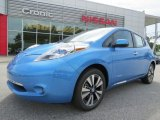 2013 Blue Ocean Nissan LEAF SL #82672928
